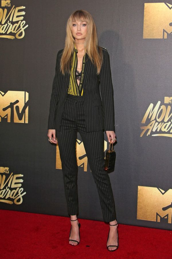 Burbank, CA - April 09 Gigi Hadid Attending 25th Annual MTV Movie Awards at Warner Brothers Studios On April 09, 2016., Image: 281125525, License: Rights-managed, Restrictions: , Model Release: no, Credit line: Profimedia, Face To Face A