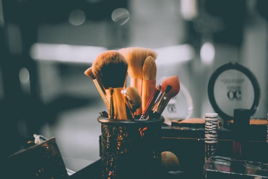 Prikaz četkica za šminkanje